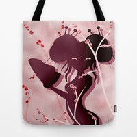 Akiko Asian woman Tote Bag by LouJah