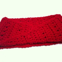 Red Twist Crochet Headband/Earwarmer for Teens and Adults