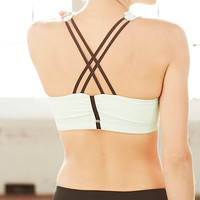Pure + Good Ruffled Racerback Bra