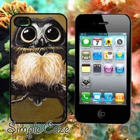 Brown White Young Owl,Accsessories,Case,Cell Phone,iPhone 4/4S,iPhone 5/5S/5C,Samsung Galaxy S3,Samsung Galaxy S4,Rubber/1012Q23