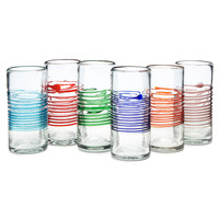 Center Stripe Tumblers - Set Of 6