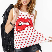 Dot Kiss Muscle Tee