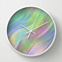 COLOUR WAVE Wall Clock by Catspaws