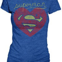 Bioworld Juniors Superman Heart Logo T-shirt