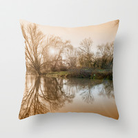 TREE - FLECTION 2 Throw Pillow by Catspaws