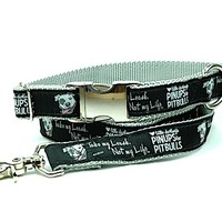 *NEW* Dog Leash- gray - Pinups for Pitbulls