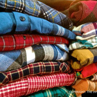 Mystery Oversized Hipster Grunge Flannel Shirt