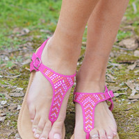 Closet Candy Boutique · Grain Of Sparkle Sandals - Fuchsia