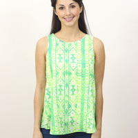 Neon Tribal Blouse » Vertage Clothing