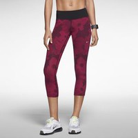 The Nike Epic Luxe Nylon Printed Cropped Women's Running Tights.