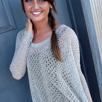 Light Gray Piko Knit
