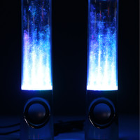 Blue Leading Edge Water Dancing Speakers