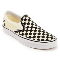 Vans Black & White Checkered Slip On Canvas Shoe