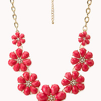 Vibrant Floral Bib Necklace