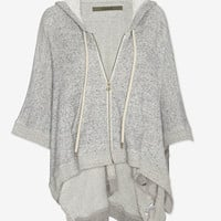 Enza Costa Sweats Poncho Hoodie: Grey | Shop IntermixOnline.com