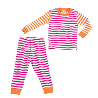 giggle Better Basics Striped Long Johns (Organic Cotton) | giggle