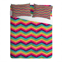 Lara Kulpa Chevron Brights Sheet Set