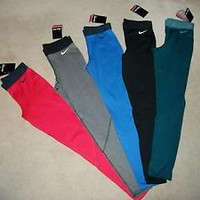 Nike Pro Core Hyperwarm Compression Leggings Tights Thermal Pants (1-Pair) Yoga