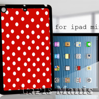 Red polkadot - desain case for iPad mini
