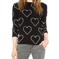 Allover Hearts Sweater