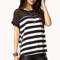 Mesh-Trim High-Low Top