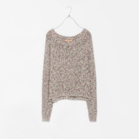 MULTI-THREAD CROPPED SWEATER