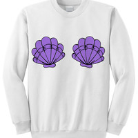 NEW Mermaid Shells Crewneck Sweatshirt