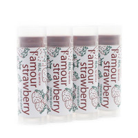 L'Amour Strawberry Tinted Lip Glace - Tinted Lip Balm - Lip Tint - Natural