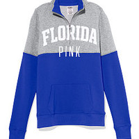 Universty of Florida Colorblock Half Zip Pullover - PINK - Victoria's Secret