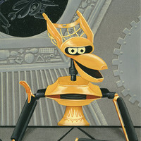 Mystery Science Theater 3000 Crow T. Robot art print MST3K
