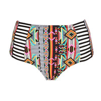 Neon Pop High-Waisted Bikini Bottom