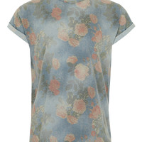 Washed Rose High Roll T-shirt - Men's T-shirts & Tanks - Clothing - TOPMAN USA
