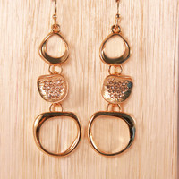Gold with Diamonds Dangle Earring