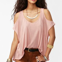 Cold Shoulder Top - Dusty Rose in  Clothes at Nasty Gal
