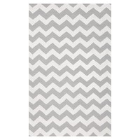 Chevron Rug, Gray