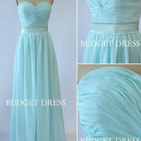 Floor Length A-line Sweetheart Neckline Strapless Chiffon Prom Dress with Lace-up - Bridesmaid Dresses - Prom Dresses - Long Chiffon Dresses
