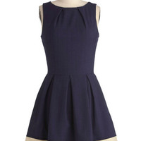Closet Nautical Mid-length Sleeveless Fit & Flare Luck Be a Lady Dress in Navy and Ivory
