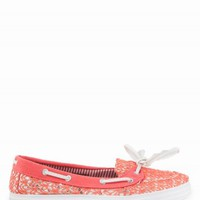 SEQUIN CROCHET BOAT SHOES