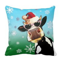 Moooootiful Christmas Cow Santa Hat