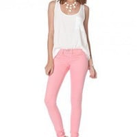 Taylor Colored Skinnies in Pink - ShopSosie.com