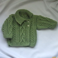 Deirdre Baby/Toddler Asymmetrical Cardigan PDF knitting pattern | PurplePup - Patterns on ArtFire