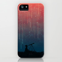 Meteor rain iPhone & iPod Case by Budi Satria Kwan