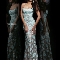 Spaghetti Straps Sherri Hill Formal Prom Dress 11125