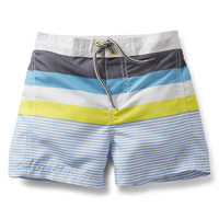 Color Block Swim Trunks
