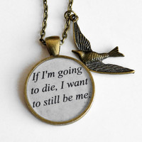 Hunger Games SPECIAL Debut Peeta Quote Pendant by Metamorphosis07