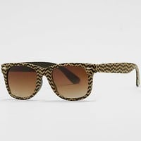 Women's Chevron Sunglassesin Black/Khaki by Daytrip.