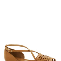 Boardwalk Stroll Sandal in Sand | Mod Retro Vintage Sandals | ModCloth.com