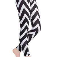 For Chevron's Sake Leggings | Mod Retro Vintage Pants | ModCloth.com