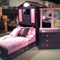 Purple Clubhouse Bed For Girls Only
