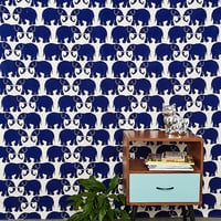 Stamp Tapestry Throw in Navy - Urban Outfitters